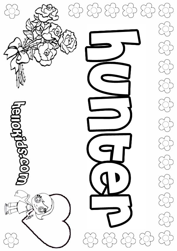 Hunter coloring #5, Download drawings