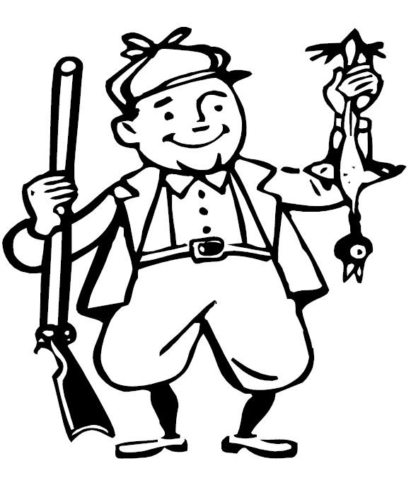 Hunter coloring #16, Download drawings