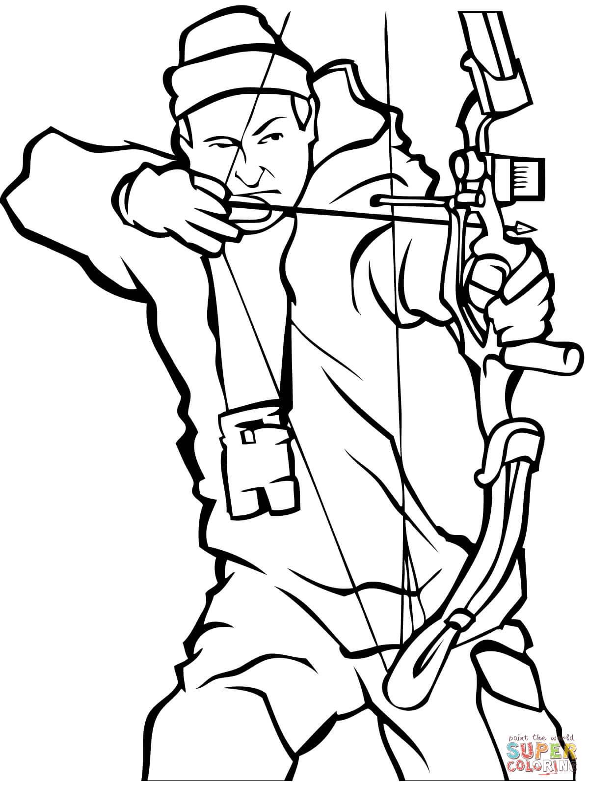 Hunter coloring #7, Download drawings