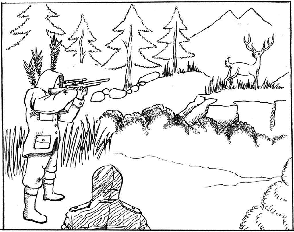 Hunter coloring #19, Download drawings