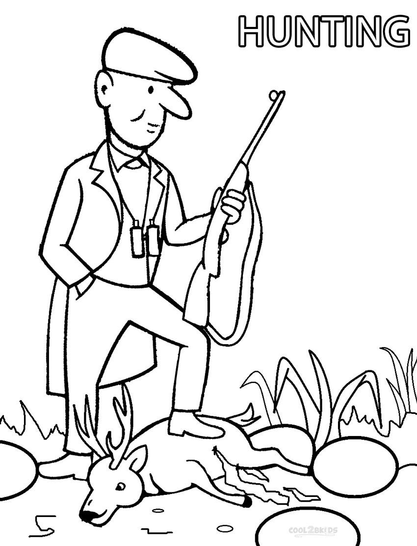 Hunter coloring #10, Download drawings