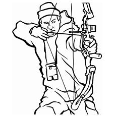 Hunter coloring #18, Download drawings