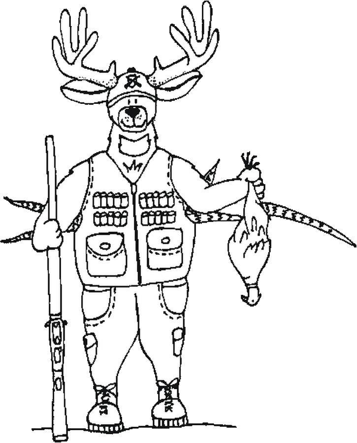 Hunter coloring #20, Download drawings
