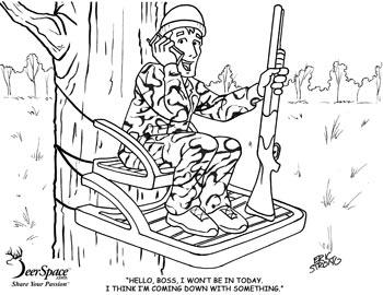 Hunter coloring #17, Download drawings
