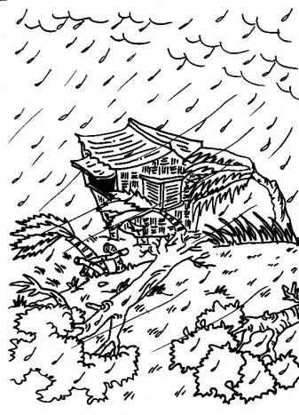 Hurricane coloring #4, Download drawings