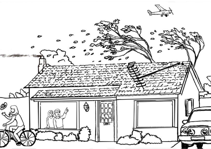 Hurricane coloring #14, Download drawings