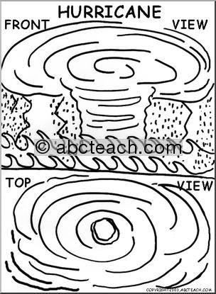 Hurricane coloring #18, Download drawings