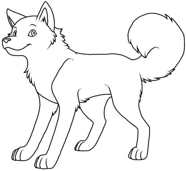 Husky coloring #10, Download drawings