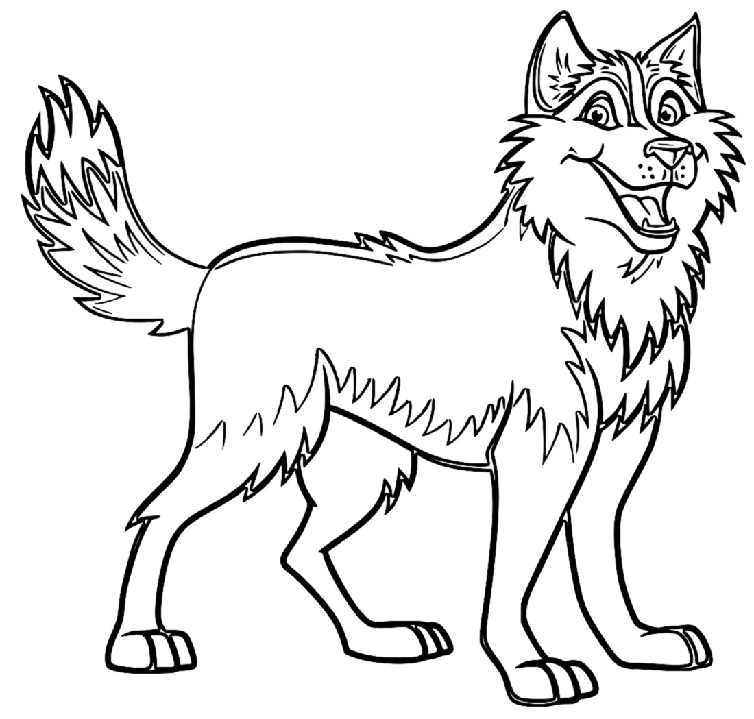 Husky coloring #19, Download drawings