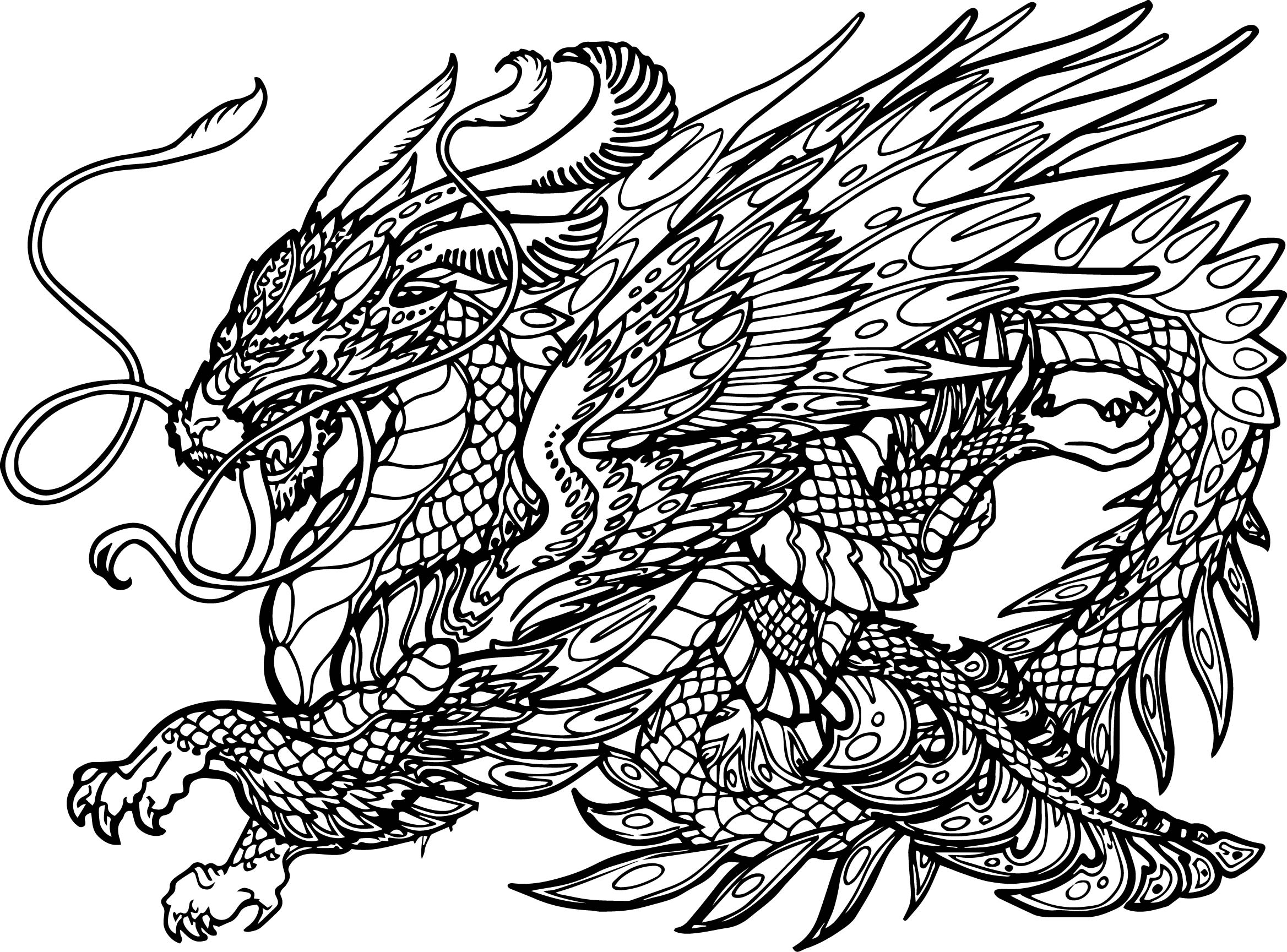 Hydra coloring #1, Download drawings