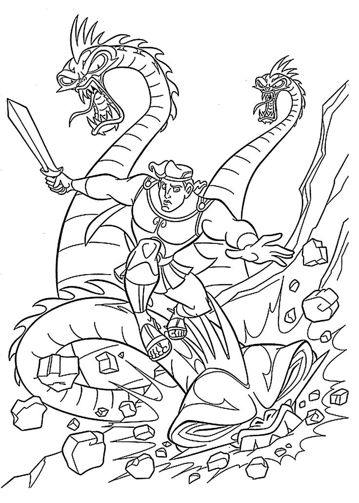 Hydra coloring #8, Download drawings