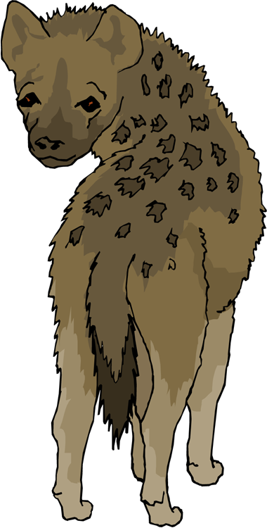 Hyena clipart #1, Download drawings