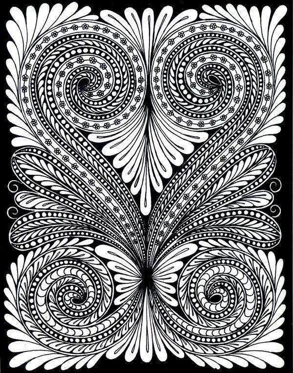 Hypnotic coloring #19, Download drawings