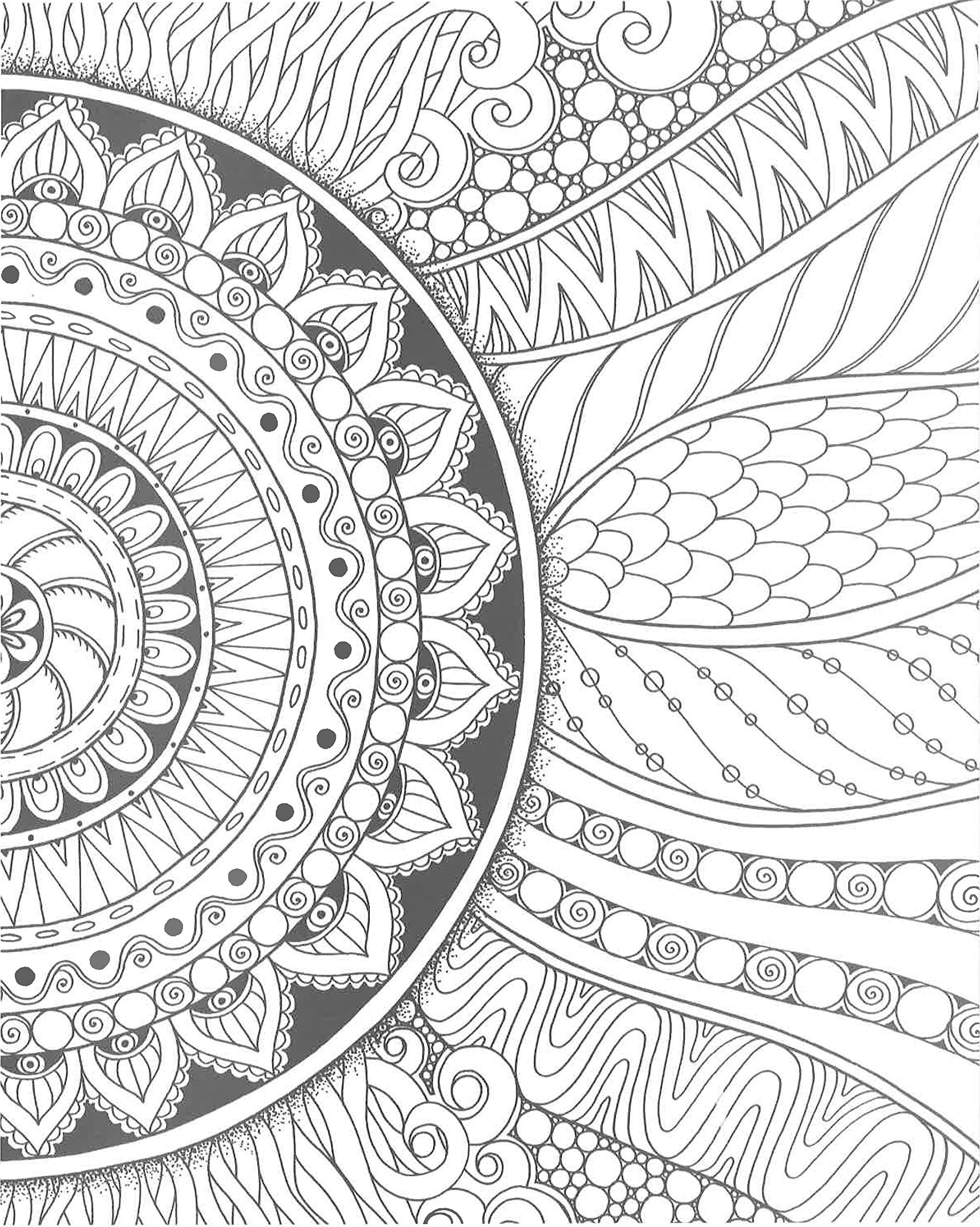 Hypnotic coloring #10, Download drawings