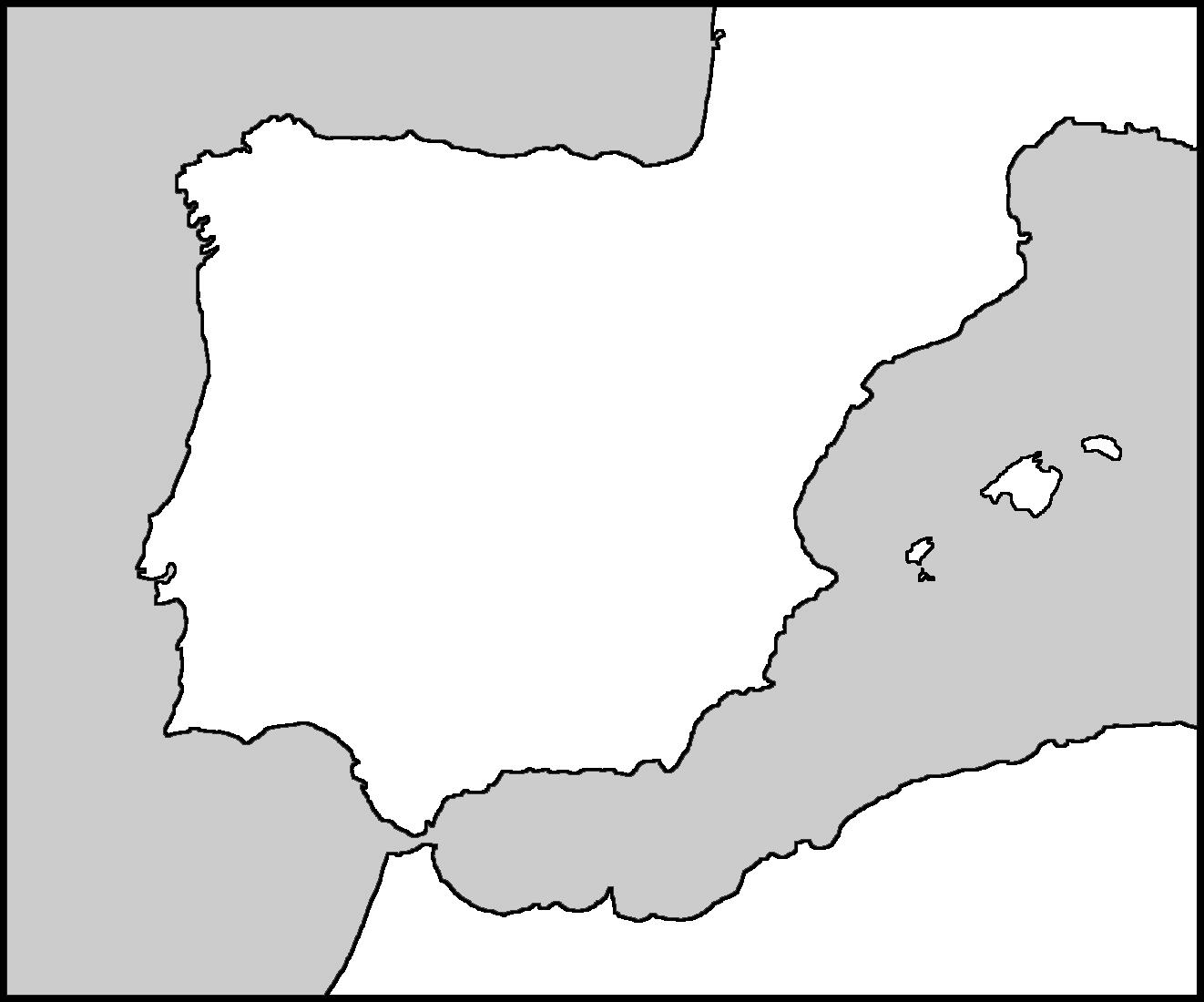 Iberian Peninsula coloring #5, Download drawings