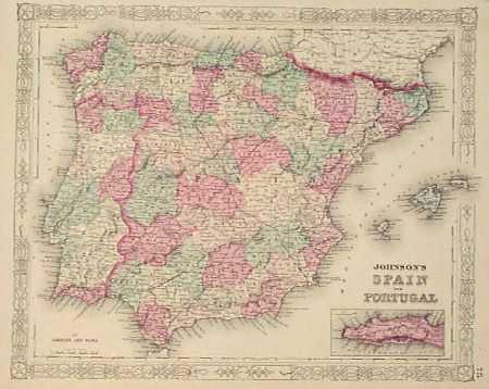 Iberian Peninsula coloring #9, Download drawings