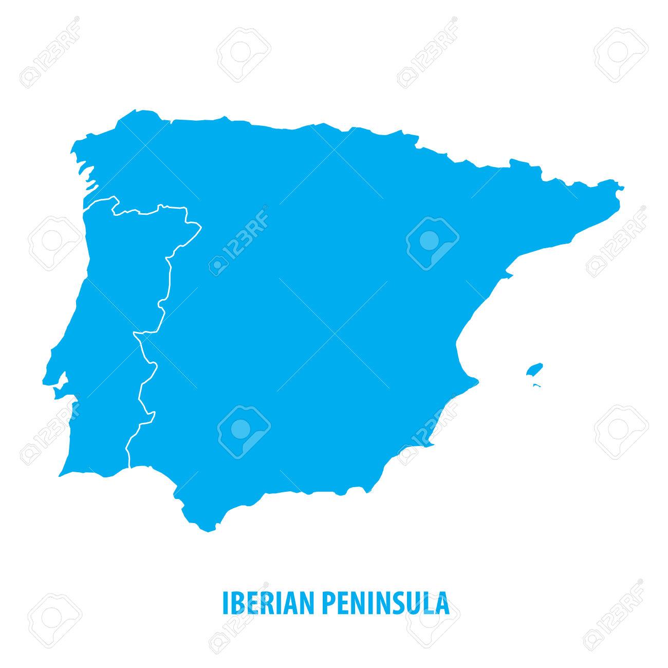 Iberian Peninsula coloring #4, Download drawings