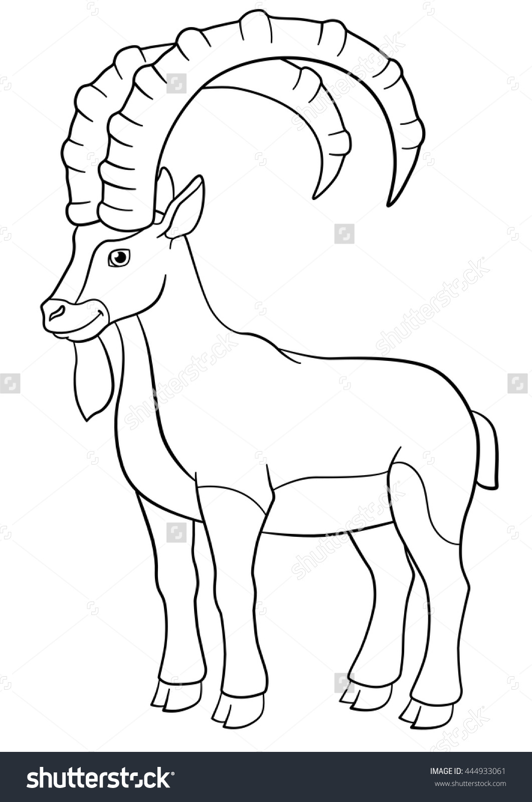 Ibex coloring #12, Download drawings
