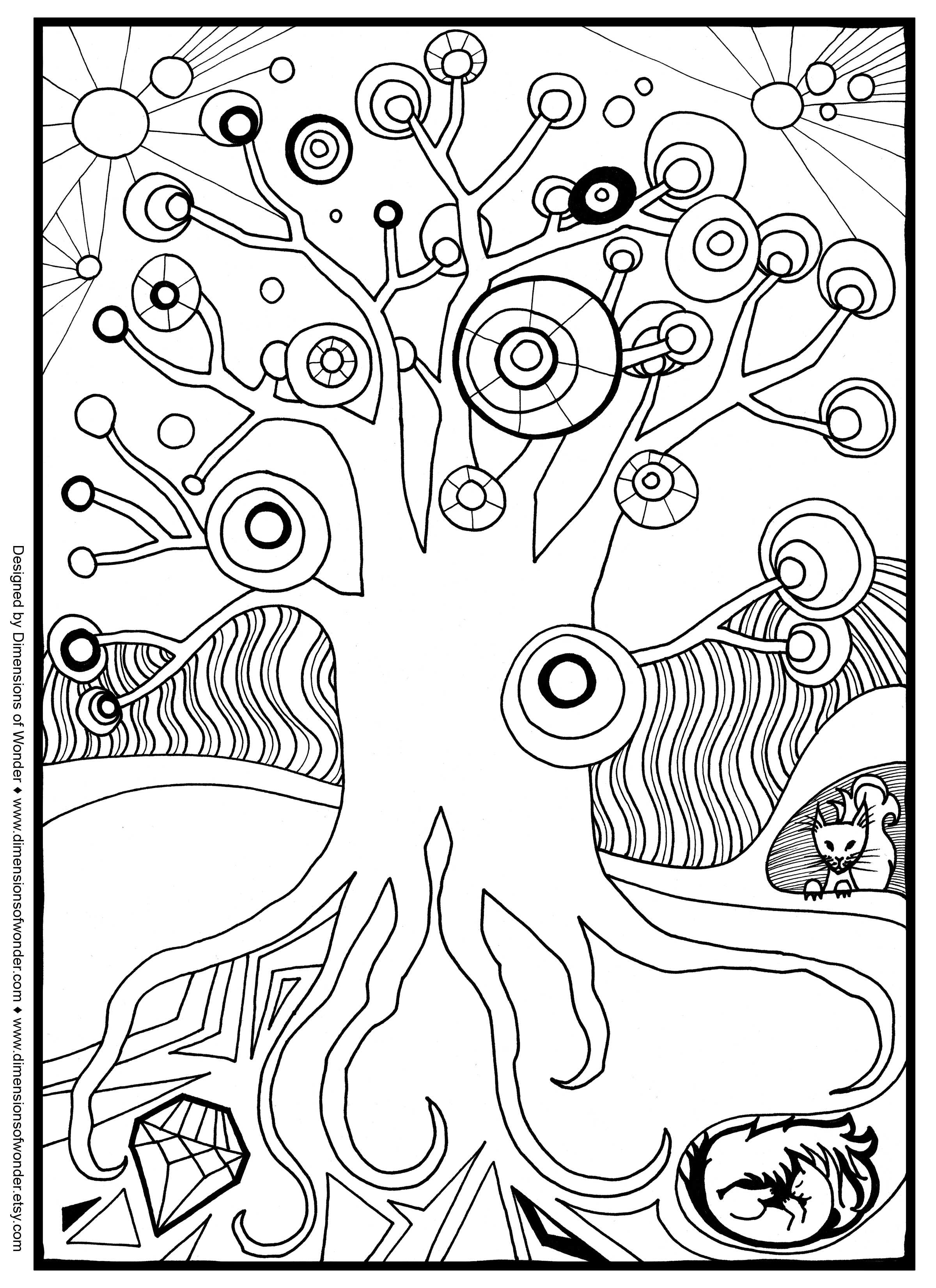 Ice Tree coloring #1, Download drawings