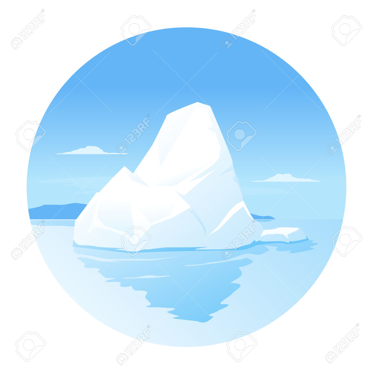 Iceberg clipart #2, Download drawings