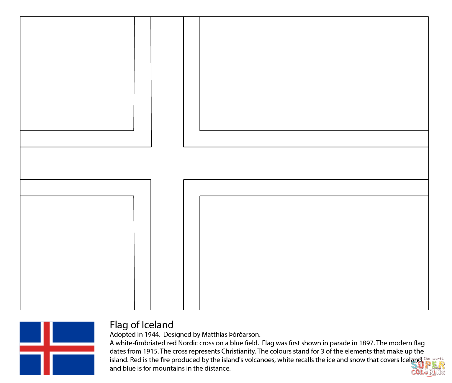 Iceland coloring #9, Download drawings