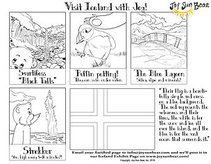 Iceland coloring #6, Download drawings