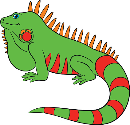 Iguana clipart #2, Download drawings