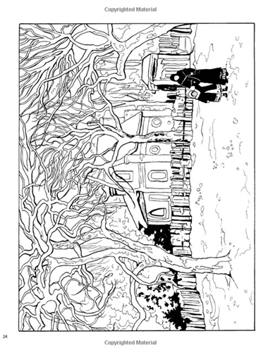 Impressionist coloring #3, Download drawings