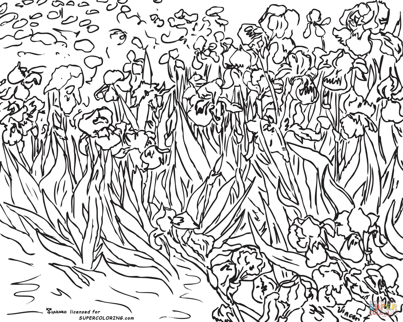 Impressionist coloring #1, Download drawings