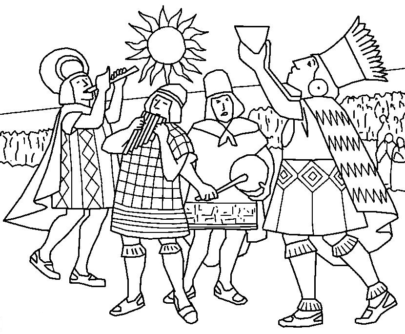 free inca coloring pages - photo#2