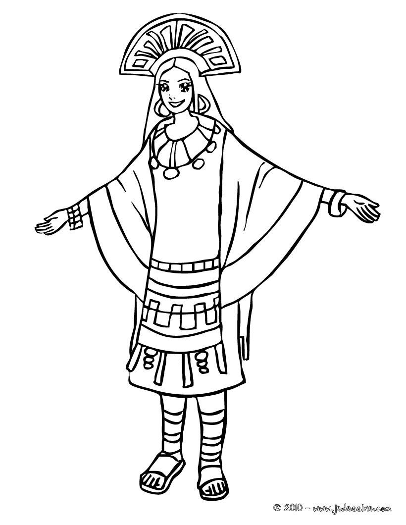 Inca coloring #11, Download drawings