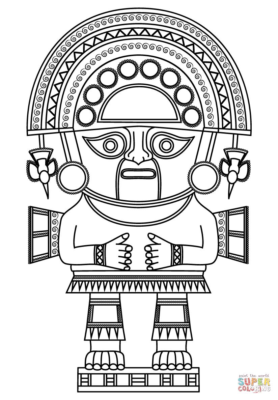 Inca coloring #4, Download drawings