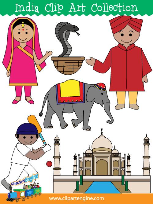 India clipart #12