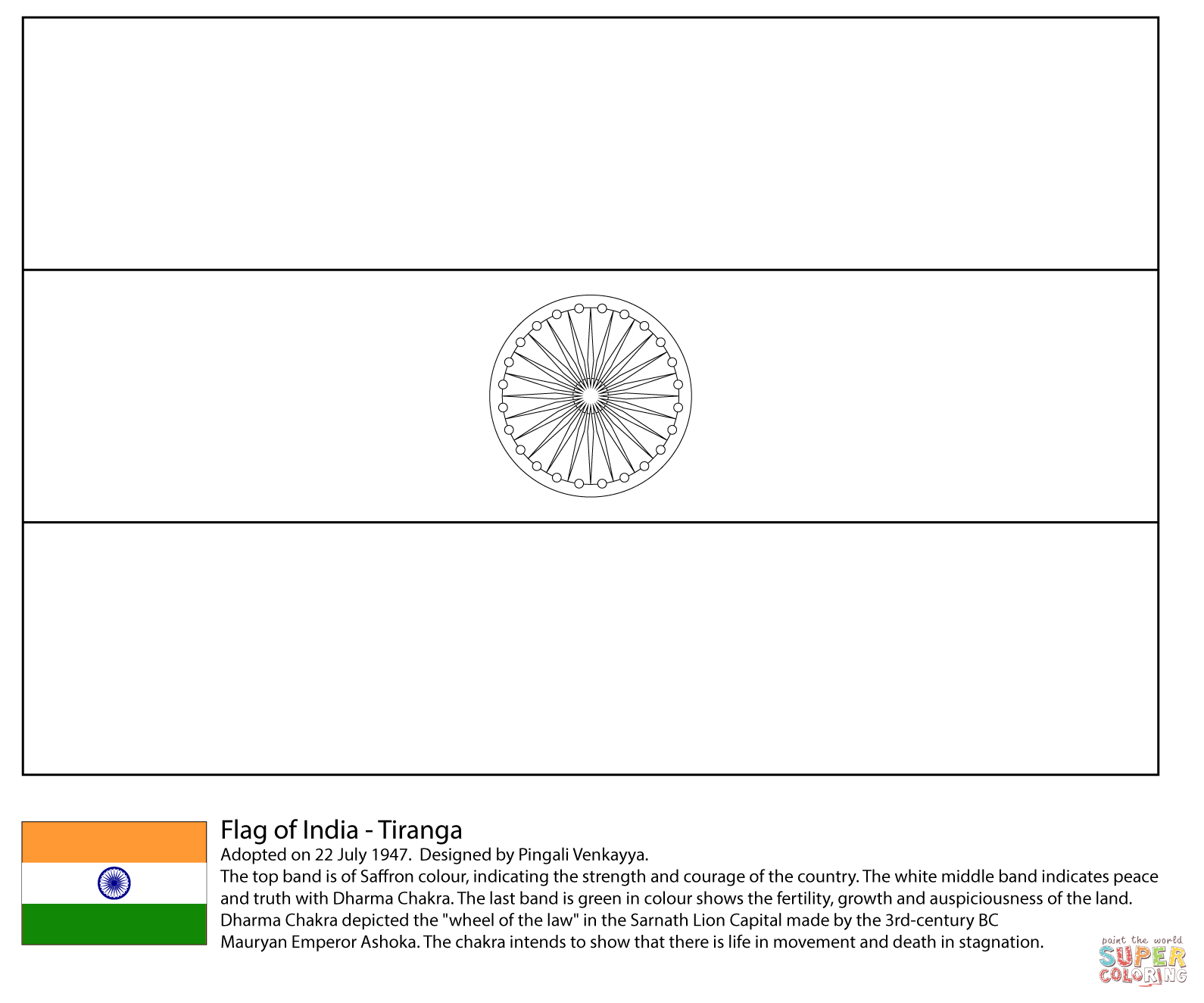 India coloring #3, Download drawings