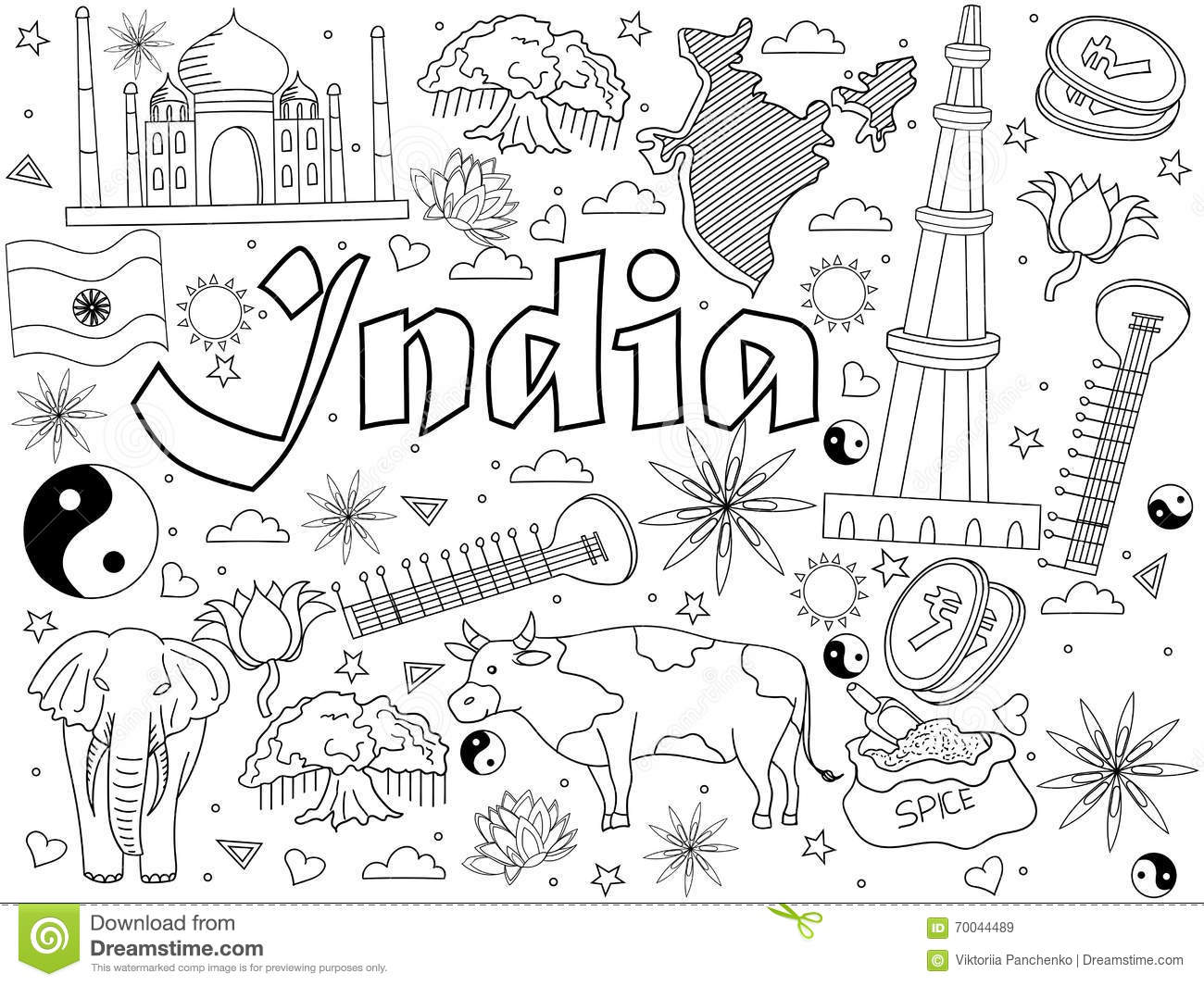 India coloring #8, Download drawings