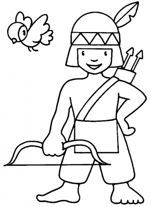 Indian coloring #15, Download drawings