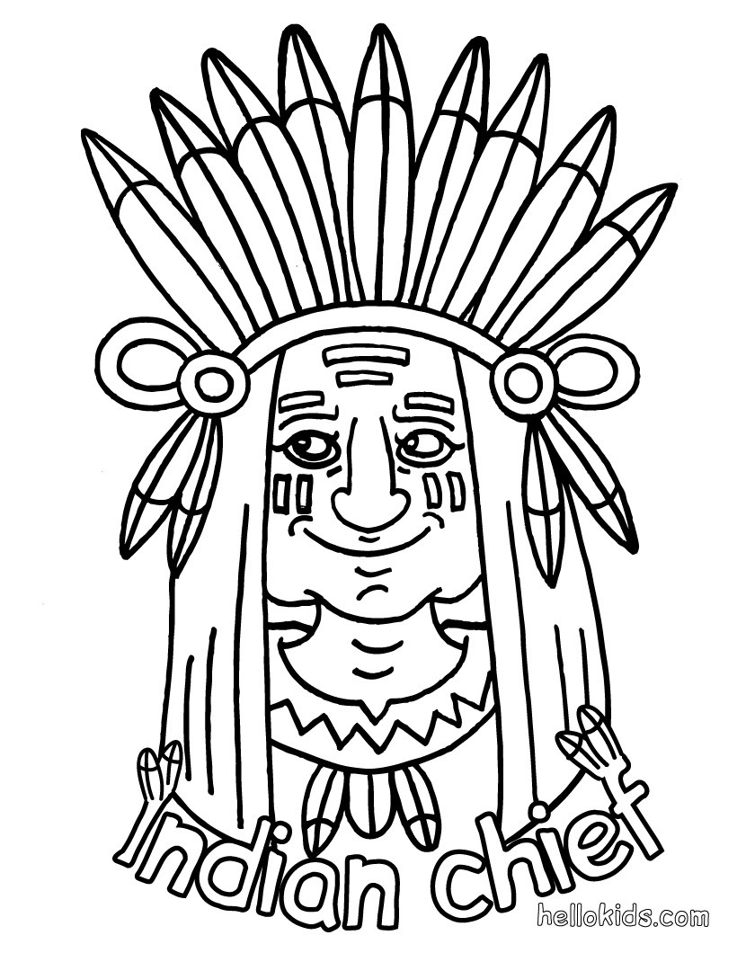 Indian coloring #12, Download drawings