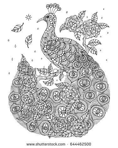 Peafowl coloring #12, Download drawings