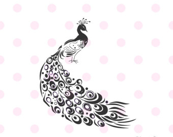 White Peafowl svg #18, Download drawings