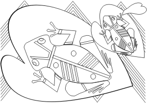 Indigenous Art coloring #9, Download drawings
