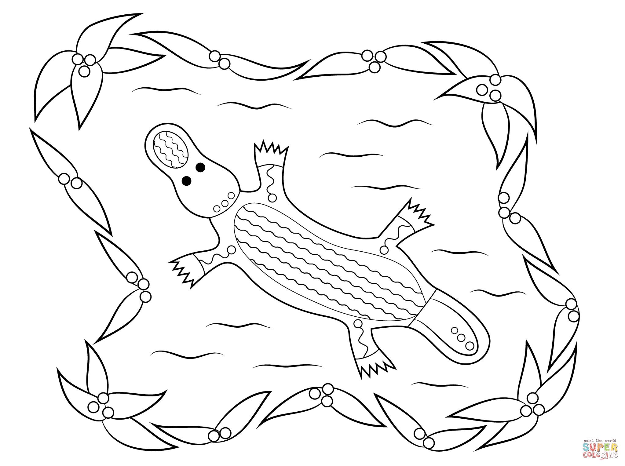 Indigenous Art coloring #6, Download drawings