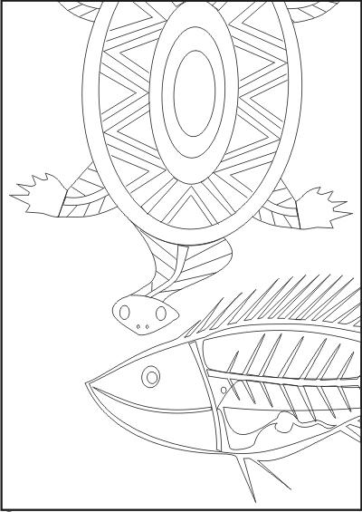Indigenous Art coloring #3, Download drawings