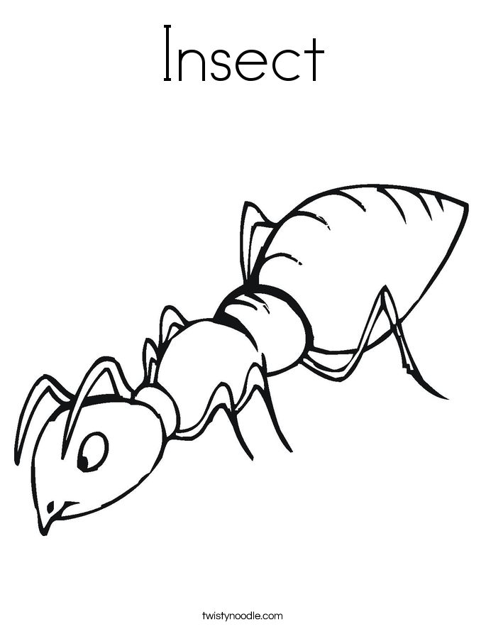 Insect coloring #13, Download drawings