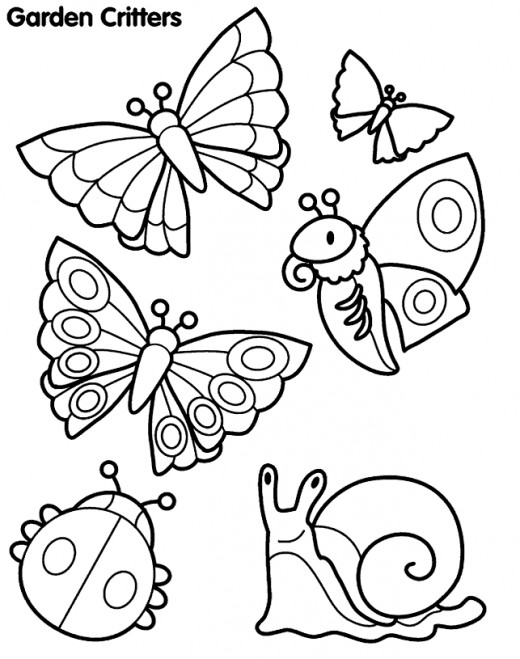 Insect coloring #1, Download drawings