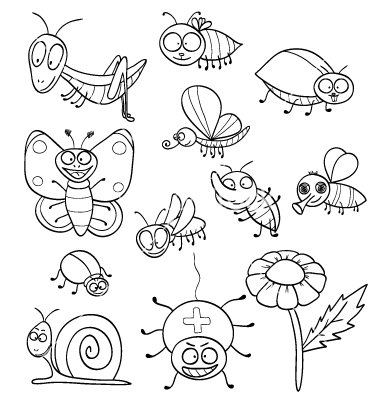 Insect coloring #9, Download drawings