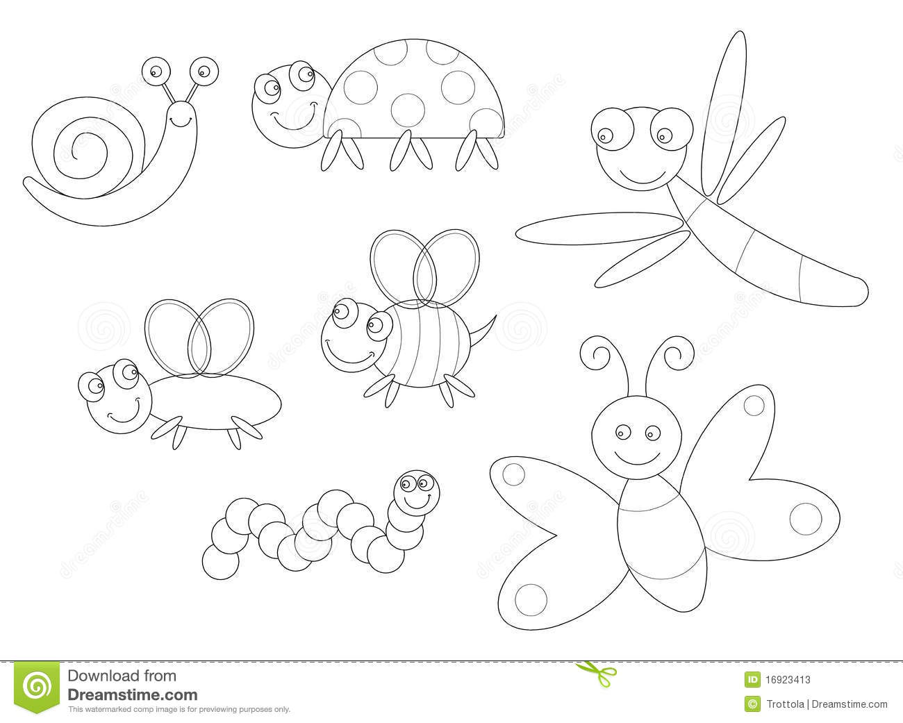 Insect coloring #3, Download drawings