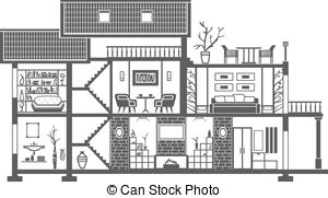 Interior clipart #3, Download drawings