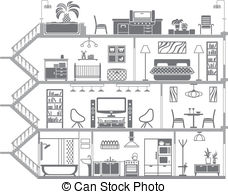 Interior clipart #2, Download drawings