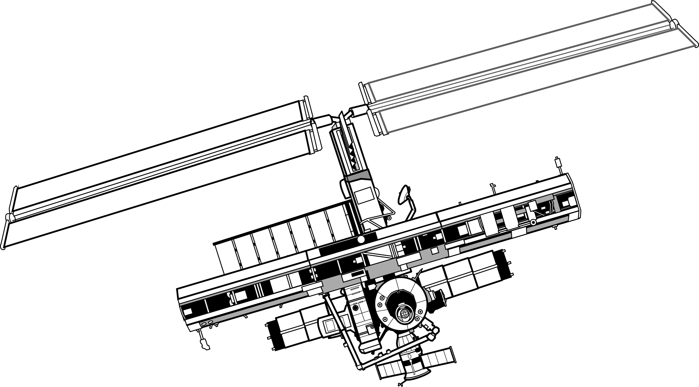 It's just a photo of Sweet International Space Station Drawing