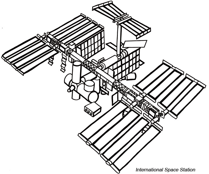 International Space Station clipart #2, Download drawings